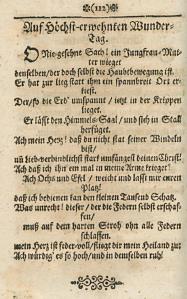 Aus: Catharina Regina von Greiffenberg, Geistliche Sonnette, Lieder und Gedichte, Nürnburg 1662, S. 112