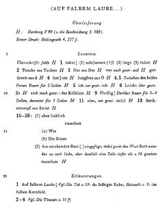 Anmerkungen aus Band 2.2 der historisch-kritischen Ausgabe von Friedrich Beißner
