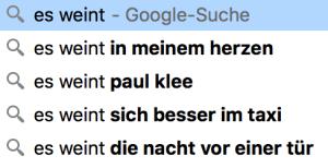 Google poem